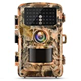 "Campark Trail Camera 1080P Hunting Cam 12MP 2.4"" Color LCD Wildlife Game Scouting Digital Surveillance Camera with 75ft/23m Infrared Night Vision 42pcs IR LEDs IP56 Waterproof"