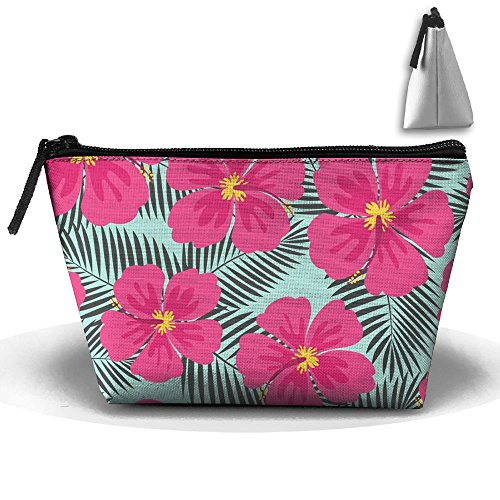 MIPU SHANGMAO The Palm Trees Are Blooming Trapezoidal Storage Bag Double Print Handbag Zipper Package Coin Purse Cosmetic Pouch Wallet Pencil Holder Zipper