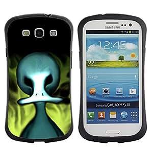 Suave TPU GEL Carcasa Funda Silicona Blando Estuche Caso de protección (para) Samsung Galaxy S3 I9300 / CECELL Phone case / / Monster Alien Big Head Art Zombie Drawing /