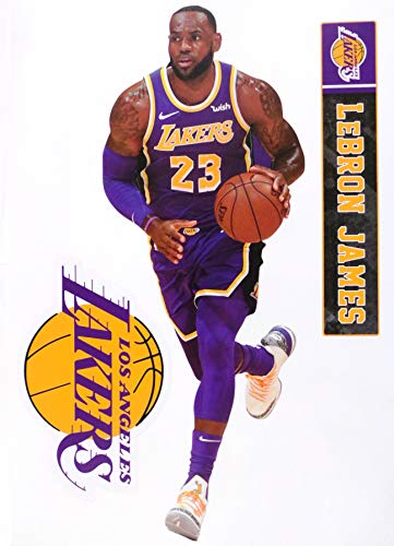 Lebron James FATHEAD Graphic + Los Angeles Lakers Logo Set Official NBA Vinyl Wall Graphics 17