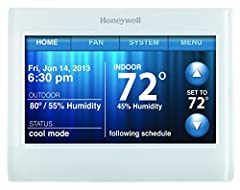Honeywell's Wi-Fi 9000 allows remote access to the thermostat through a computer, tablet or smart phone with Honeywell's Total Connect Comfort Service. Get Connected - Connect to home's existing Wi-Fi network. Apps available for tablet and sm...