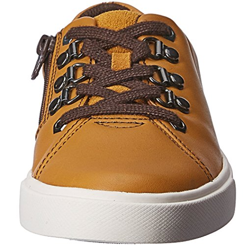 Clarks boys Club Hike Jnr Sneaker Gr. 36 braun Echtleder NEU UVP 59,95 EUR