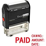 ExcelMark Self Inking Rubber Stamp - Paid, Check No., Amount, Date (A1848)