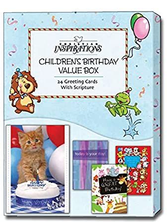 Amazon childrens birthday value box assorted box of 24 childrens birthday value box assorted box of 24 christian birthday cards m4hsunfo