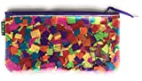 Confetti Pouch Design Travel Cosmetic Bags Small Makeup Clutch Cosmetic and Toiletries Organizer Bag. 8'' w x 7'' h