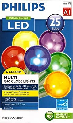 LED Multicolor (6 Color) G40 Globe Lights