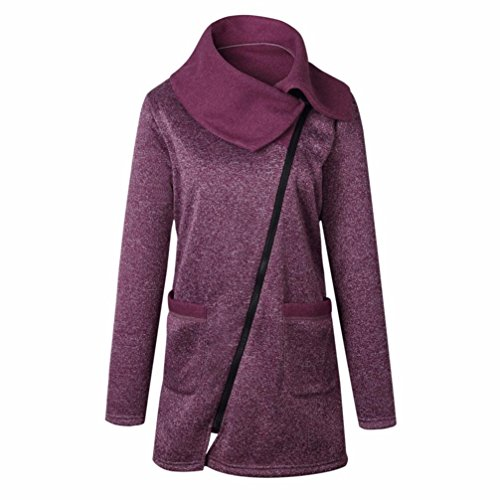 Casual LHWY warm Sweatshirt Outwear Ladies Tops Long Keep Zipper Windbreaker Red Coat Women Jacket TwU1q