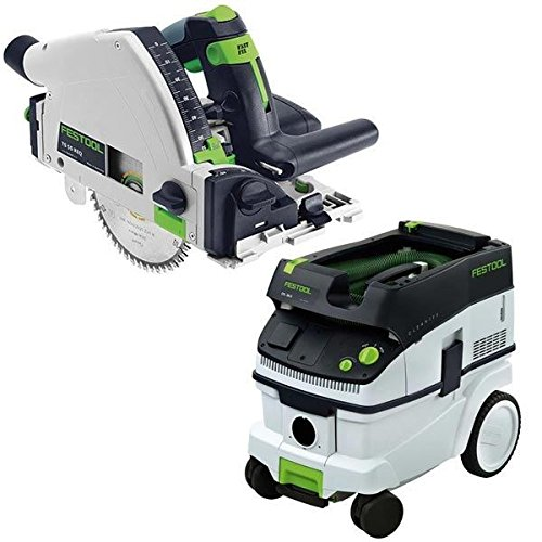 Festool TS 55 REQ Plunge-Cut Saw with T-Loc plus CT 26 Dust Extractor Package
