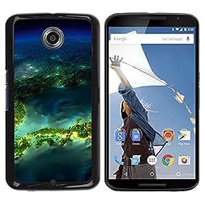 Be Good Phone Accessory // Dura Cáscara cubierta Protectora Caso Carcasa Funda de Protección para Motorola NEXUS 6 / X / Moto X Pro // Island Planet Earth Space