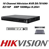 Hikvision Onvif Nvr Network Video Recorder Ds-7616Ni-E2/16P 16Ch 16Poe Up To 6 Megapixels Resolution Recording Embedded Plug&Play Mobile Phone Monitoring Support Upgrade