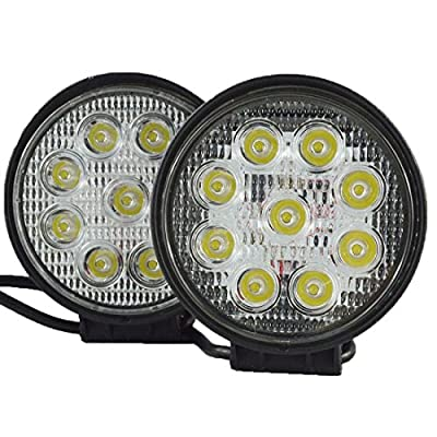 Safego 27W LED Work Light Lamp Offroad for Trucks 4X4 Tractor ATV SUV UTV Jeep Boat 12V 24V Spot or Flood
