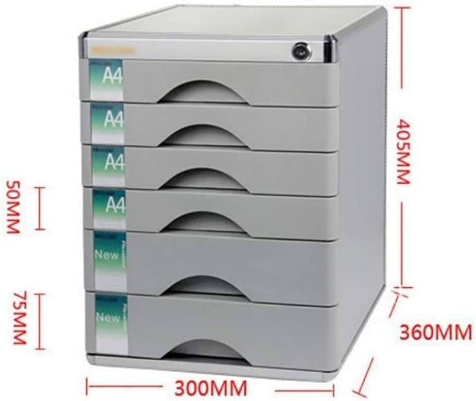 Color : Silver 30x36x40.5cm Office Supplies File cabinet File Cabinet Lock Multi-Layer Plastic Drawer Type Office Storage Archive Box Color-Silver Sensitive Appearance Volume