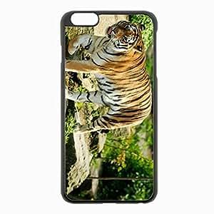 iPhone 6 Plus Black Hardshell Case 5.5inch - tiger predator walk Desin Images Protector Back Cover