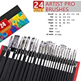 Artist Paint Brush Set of 24 - 23 Different Shapes
