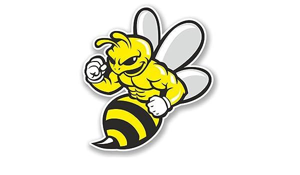 2 x Wasp Bee Hornet Vinyl Sticker Laptop Travel Luggage Car #5844