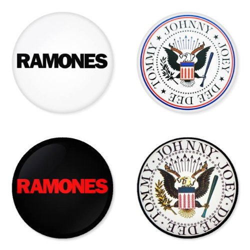 Ramones Pin Button - RAMONES round badges 1.75