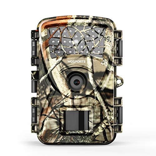 Trail Camera Hunting Game Camera, 2019 Upgraded Motion Activated Night Vision up to 65ft,1080P Full HD Waterproof Wildlife Scouting Monitoring Home Security Camera, 88D (Trail Camera-Camo)