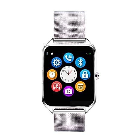 Z60 1.54 Pulgadas Pantalla Reloj Inteligente Bluetooth con cámara Soporte Tarjeta SIM TF Reloj Banda de