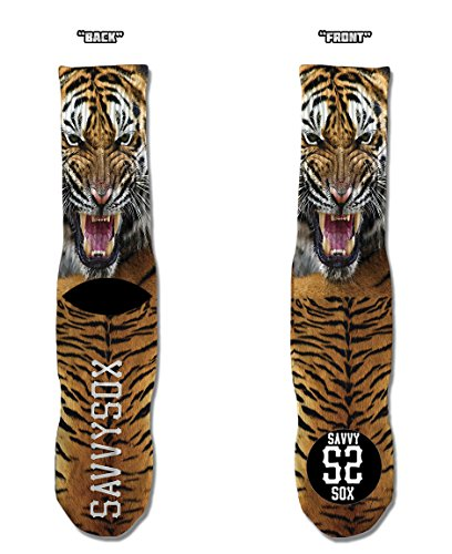 Savvy Sox Men's Savvy Tiger Custom (Custom Tiger)