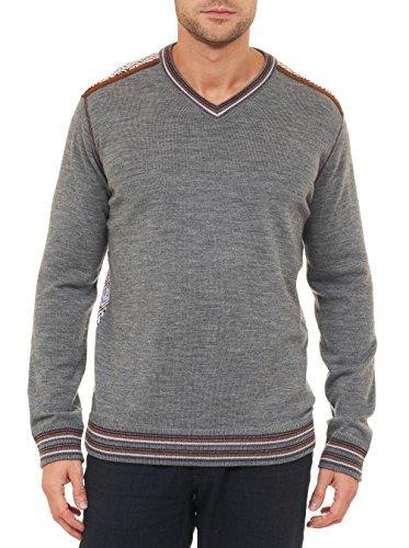 - Robert Graham Shayne V-Neck Sweater Classic Fit Charcoal 2XLarge