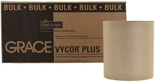 "18/"" x 75/' Roll Bulk Pack of 2 Grace Vycor Plus Self-Adhering Flashing"