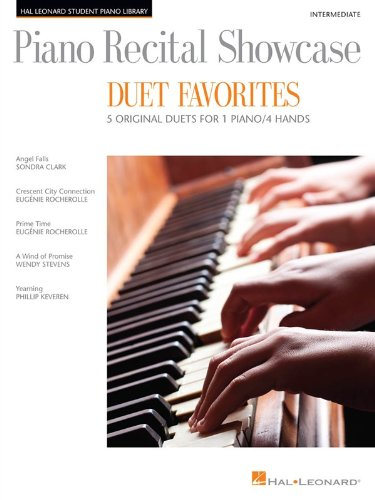 Piano Recital Showcase-Duet Favorites-5 Original Duets For 1 Piano/4 Hands Intermediate (Hal Leonard Student Piano Library)
