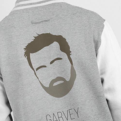 Grey Grey Grey Guy Guy Guy Guy Jacket Music Silhouette Garvey Varsity Heather Men's White Icon RRnq8xvP