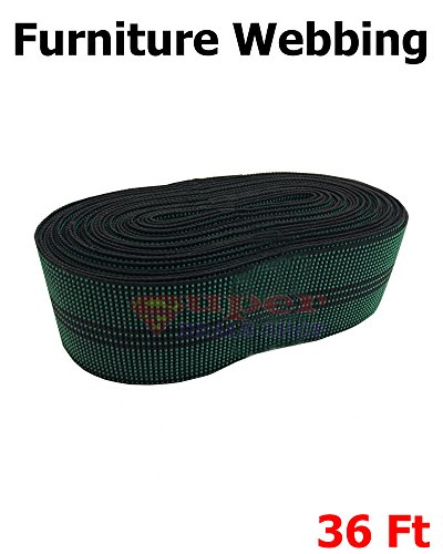 36 Ft Green Dots-line Elastabelt Chair Webbing Upholstery Strapping Sofa Couch Cushion Outdoor Patio Furniture Replacement Pool Lawn Garden Stretchy Repair Super-Deals-Shop (Outdoor Furniture Replacement Parts)