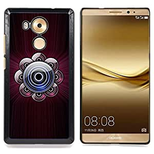 For Huawei Mate 8 - music dj sound maroon disc /Modelo de la piel protectora de la cubierta del caso/ - Super Marley Shop -