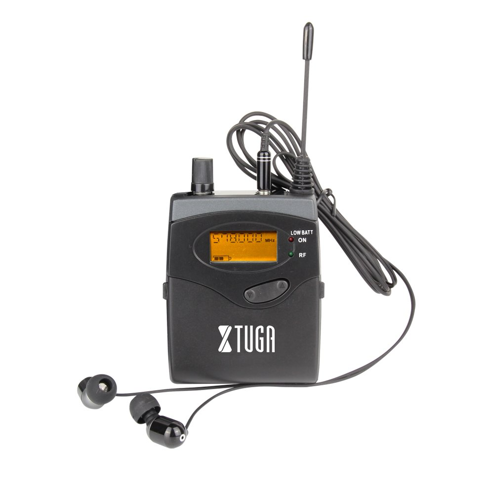 Top Quality!! Xtuga RW2080 In Ear Monitor System 2 Channel 2/4/6/8/10 Bodypack Monitoring with in earphone wireless SR2050 Type! (Only one bodypack) Made in China