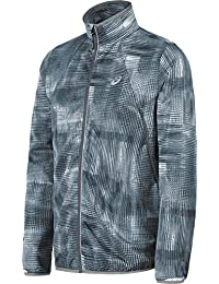Men's Lightweight Woven Jacket, Grey Linear Blur, X-Large