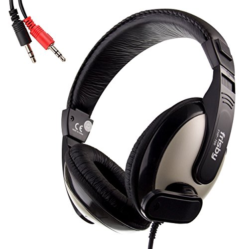 Frisby Big Size Stereo Computer PC Laptop Headphone Headset with Microphone
