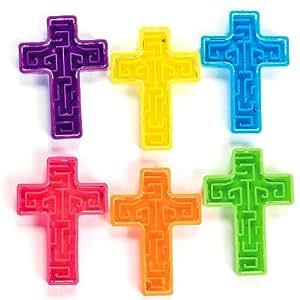 Fun Express Bright Cross Maze Puzzles (6 Dozen)