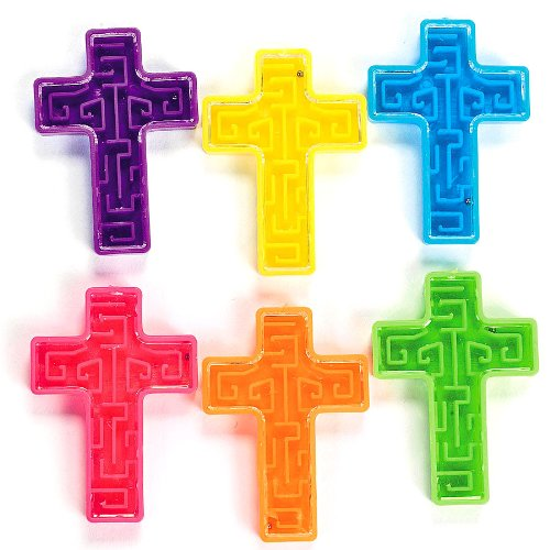 Fun Express - Cross Maze Puzzles (6dz) - Toys - Games - Puzzle Games & Mind Teasers - 72 Pieces -