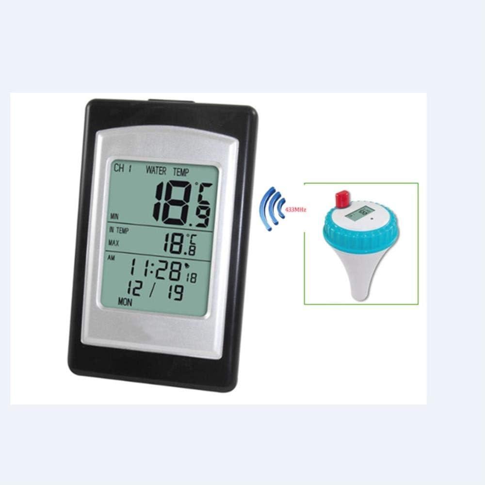 wasserdicht Au/ßensensensor -40~60 /°C Kalender nchengtaishengtainongyeyouxiangongsijljll Kabelloses Poolthermometer Wassertemperaturmesser Whirlpool-Thermometer Wecker