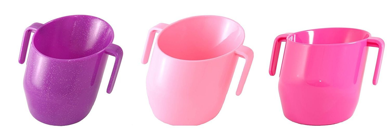 Doidy Baby Weaning Training Cup Cerise Sparkle