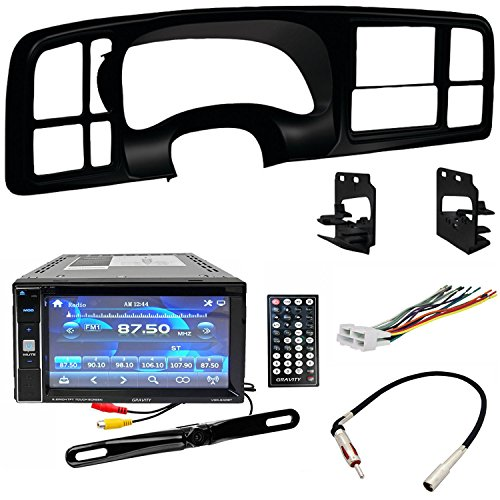 Double DIN DVD Includes Dash Kit - Wiring Harness - Radio Antenna Adapter for 1999 - 2002 GM Full-Size Trucks/SUV's by ACCEX