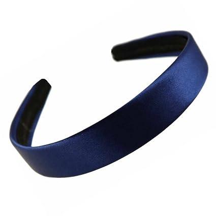 grandi affari 2017 Raccogliere Sconto del 60% Cerchietto per capelli in raso, larghezza 2,5 cm, colore blu marino