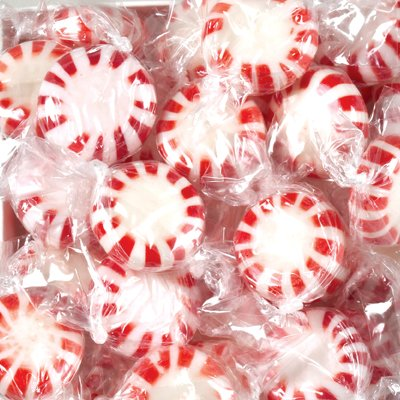 Cyber Sweetz Peppermint Starlight Mints, Non-Twist Wrapped, 5 Lb Bag by Cyber Sweetz