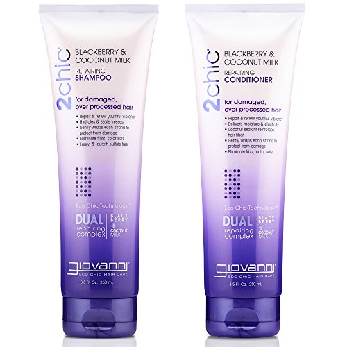 GIOVANNI COSMETICS - 2Chic Repairing Shampoo & Conditioner, 8.5 Fluid Ounce / 250 Milliliter - Dual Repairing Complex For Damaged Over-Processed (Avocado Olive Oil)