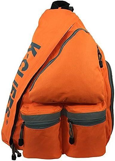K-Cliffs Heavy Duty Sling Backpack Water-Resistant Laptop Bookbag Body Bag Bright Color Safety Reflective Stipe