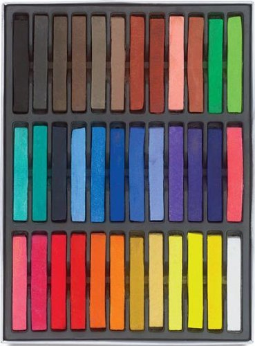 HAIRCHALKIN 36 Colors Temporary Hair Chalk Set - Non-Toxic Rainbow Colored Dye Pastel Kit (50s Makeup And Hair)