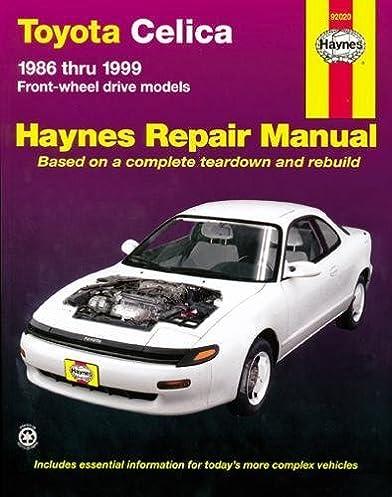 toyota celica fwd 86 99 haynes repair manuals haynes rh amazon com celica st204 workshop manual celica workshop manual