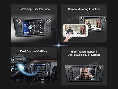 XTRONS 7 Inch HD Digital Touch Screen Car Stereo Radio In-Dash DVD Player with GPS CANbus for BMW 1 Series E81 E82 E88 2007-2014 Map Card Included by XTRONS (Image #2)