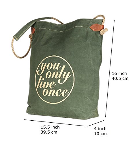 Casual Stylish Travel Tote Bag Canvas Shoulder Green Bag Shopping Jute Bag Strip Foldaway Color 7q0w0zaWF