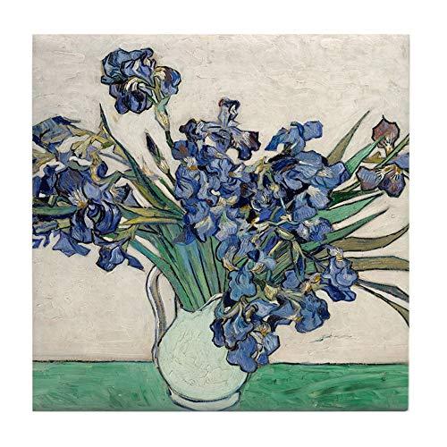 CafePress Van Gogh Irises Tile Coaster, Drink Coaster, Small Trivet