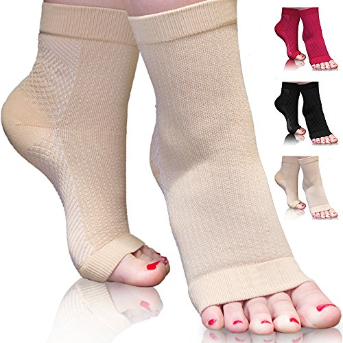 Plantar Fasciitis Toeless Ankle Compression Socks for Women. Comfort and Support for Feet