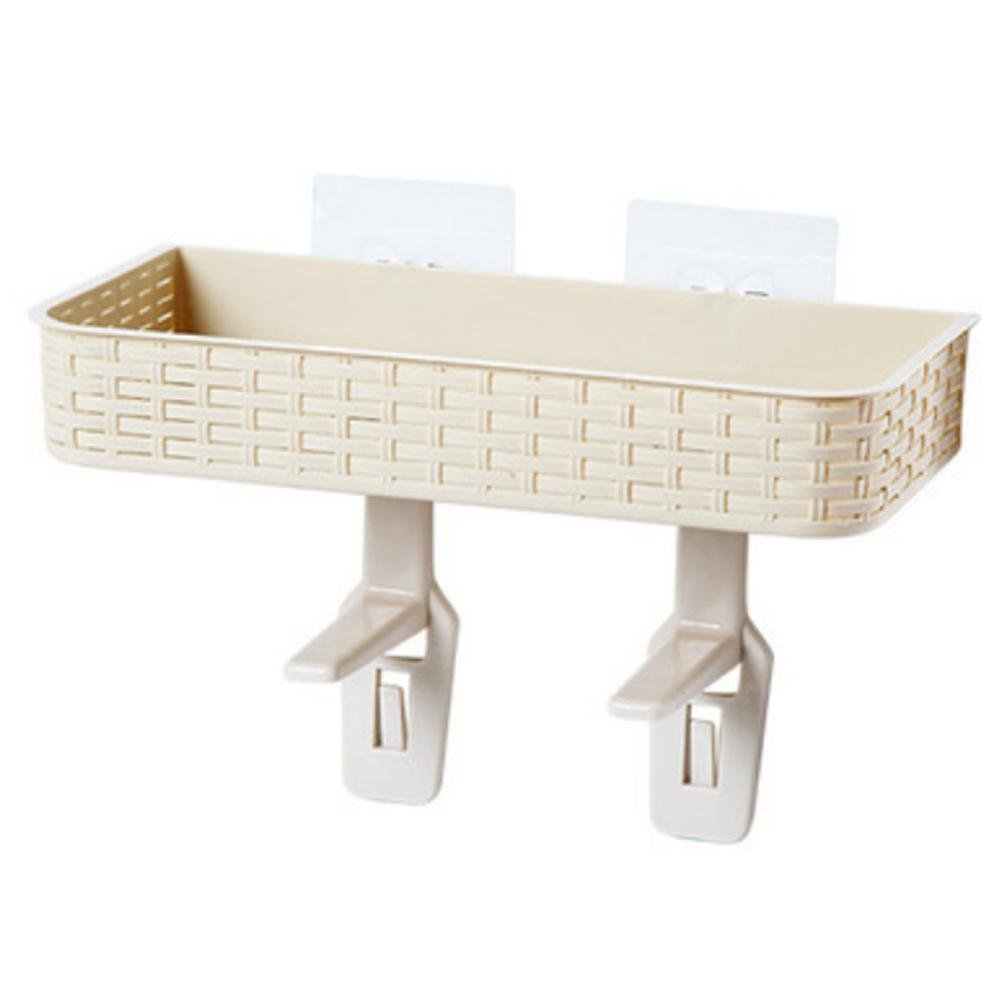 Pawaca Bathroom Storage Space Saver,Accessories,Adsorbent,No Bore,Multifunction,White