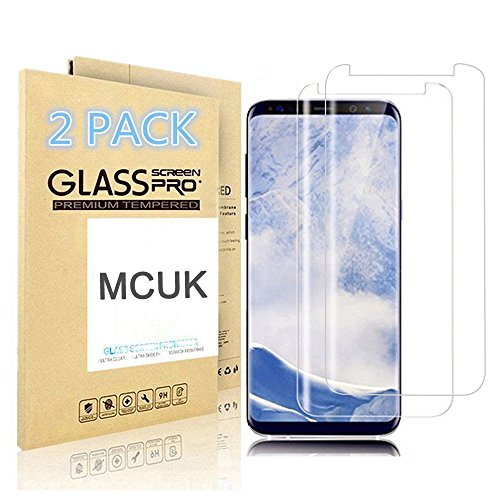 [2-Pack] Galaxy S9 Screen Protector, MCUK [Case Friendly] Anti-Scratch Anti-Fingerprint Bubble-Free 9H Hardness Easy Installation Premium Tempered Glass Screen Protector for Samsung Galaxy S9 (Clear)