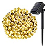 WED 100 LED Outdoor Solar String Lights, 33FT 8Mode Waterproof Fairy Lights Decorative Lighting for Christmas Trees, Garden, Patio, Wedding, Party and
